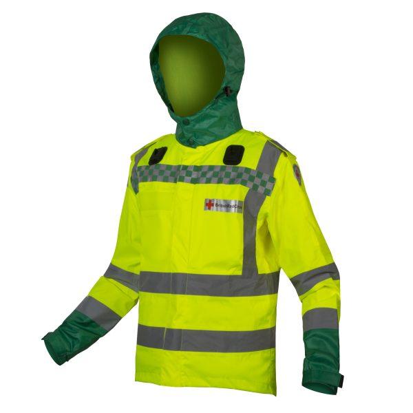 paramedic hooded jacket hi viz